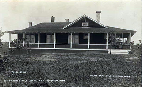 Pittsburgh Steel Ore Company club house at the Rowe Mine in Riverton, 1915