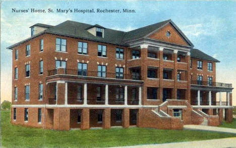 Nurses Home, St. Mary's Hospital, Rochester Minnesota, 1910's?