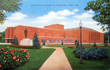 Mayo Civic Auditorium, Rochester Minnesota, 1940's