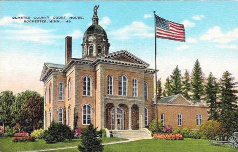 Olmsted County Court House, Rochester Minnesota, 1940's