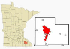 Location of Rochester Minnesota