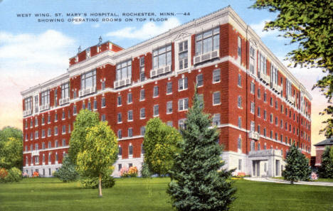 West Wing, St. Mary's Hospital, Rochester Minnesota, 1930's
