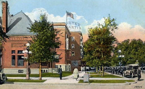 Public Library, YMCA and Hotel Martin, Rochester Minnesota, 1920's