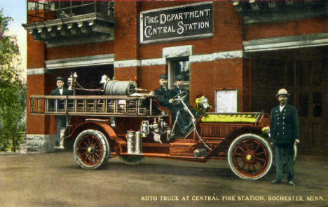 Central Fire Station, Rochester Minnesota, 1920's