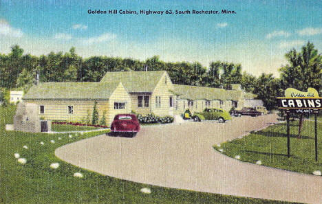 Golden Hill Cabins, Rochester Minnesota, 1950's