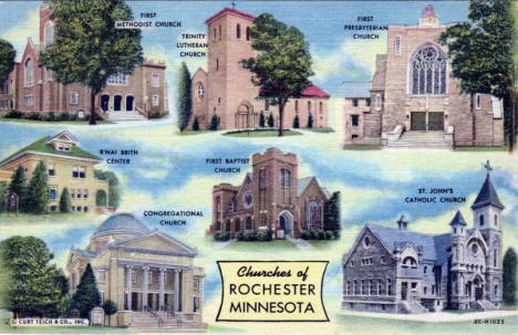 Churches of Rochester Minnesota, 1952