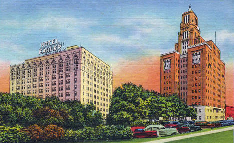 Hotel Kahler and Mayo Clinic, Rochester Minnesota, 1937