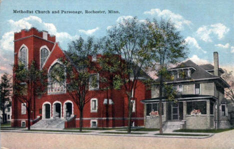 Methodist Church and Parsonage, Rochester Minnesota, 1920's