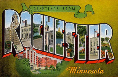 Greetings from Rochester Minnesota, 1940's