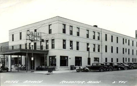 Hotel Brown, Rochester Minnesota, 1940's