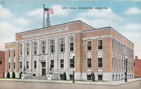 City Hall, Rochester Minnesota, 1940's