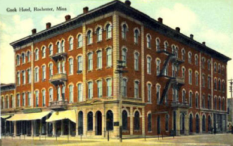 Cook Hotel, Rochester Minnesota, 1910's