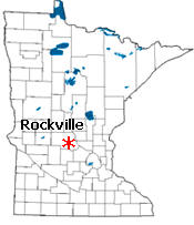 Location of Rockville Minnesota