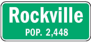 Rockville Minnesota population sign