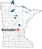Location of Ronneby Minnesota