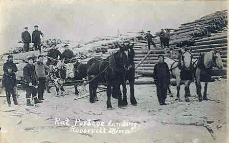 Rat Portage Landing, Roosevelt Minnesota, around 1910