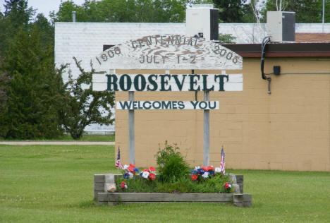 Welcome Sign, Roosevelt Minnesota, 2009