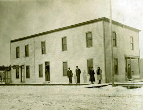 Old courthouse in Roseau in the winter time, 1906