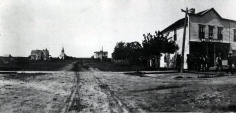 Pearl (now Center) Street, Roseau Minnesota, 1890's