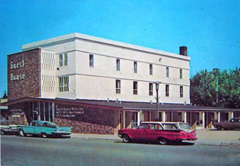 Guest House Motel and Restaurant, Roseau Minnesota, early 1960's