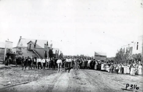 First Fourth of July Celebration in Roseau Minnesota, 1890's