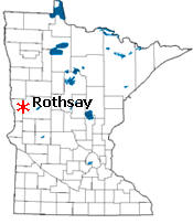Location of Rothsay Minnesota
