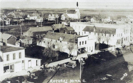 General view, Rothsay Minnesota, 1910