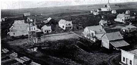 Birds eye view, Rothsay Minnesota, 1888