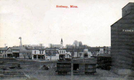 General view, Rothsay Minnesota, early 1920's