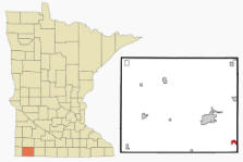 Location of Round Lake, Minnesota