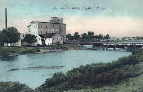 Gregory Bliss and Company, Commander Mills, Royalton Minnesota, 1908