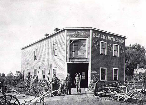 Blacksmith shop, Rush City Minnesota, 1900