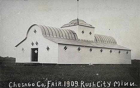 Building at Chisago County Fairgrounds, Rush City Minnesota, 1909