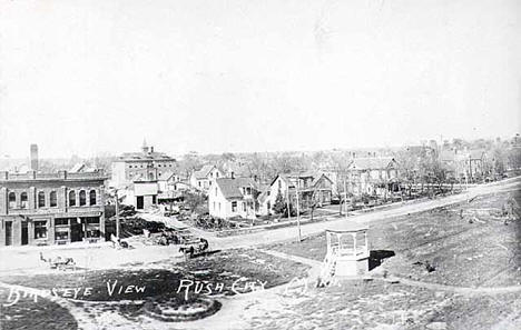 Birds eye view, Rush City Minnesota, 1915