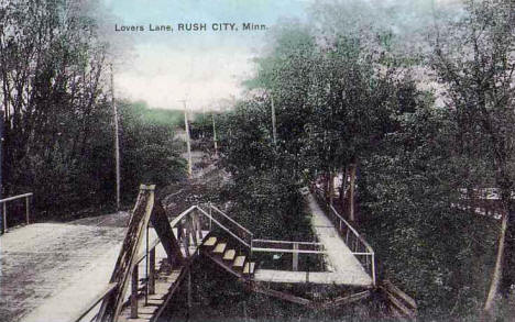 Lovers Lane, Rush City Minnesota, 1909