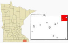 Location of Rushford Village, Minnesota