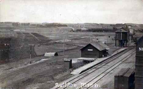 Railroad Depot, Ruthton Minnesota, 1912