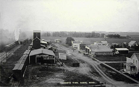 Birds eye view, Sabin Minnesota, 1900's