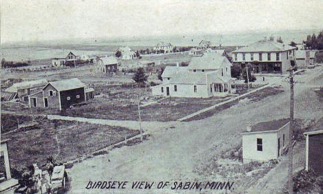 Birds eye view, Sabin Minnesota, 1913