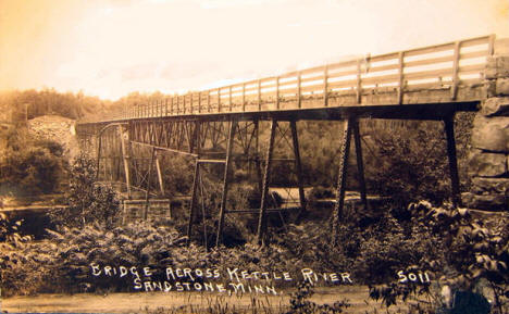 Bridge across the Kettle River, Sandstone Minnesota, 1910's?