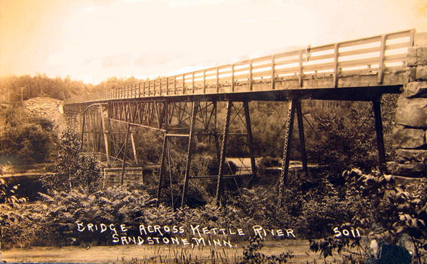 Bridge Across The Kettle River Sandstone Minnesota 1910 S