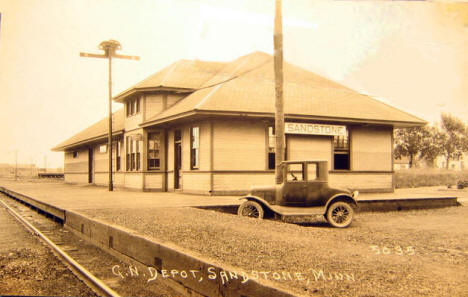 Great Northern Depot, Sandstone Minnesota, 1920's?