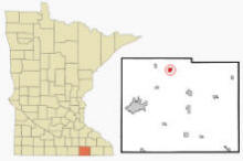 Location of Sargeant, Minnesota
