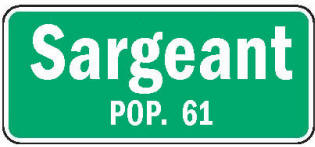 Sargeant Minnesota population sign