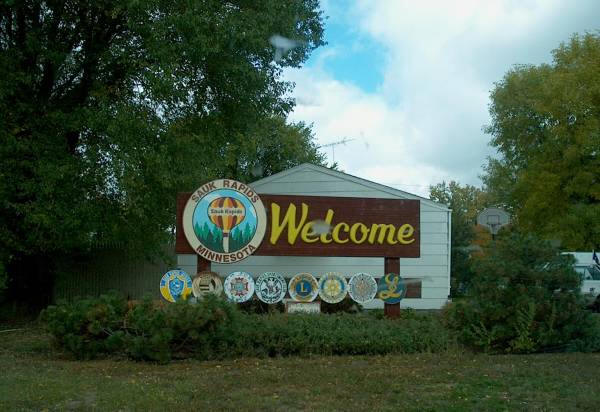 Welcome Sign, Sauk Rapids Minnesota, 2002