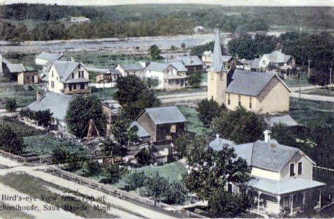 Birds Eye View of Sauk Rapids Minnesota, 1910