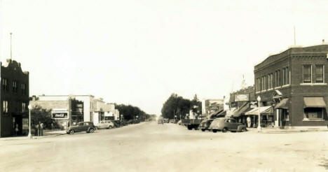 View of Downtown Sebeka Minnesota, 1946