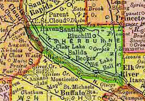 1895 Map of Sherburne County