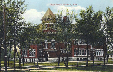 High School, Sherburn Minnesota, 1914