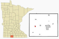 Location of Sherburn, Minnesota